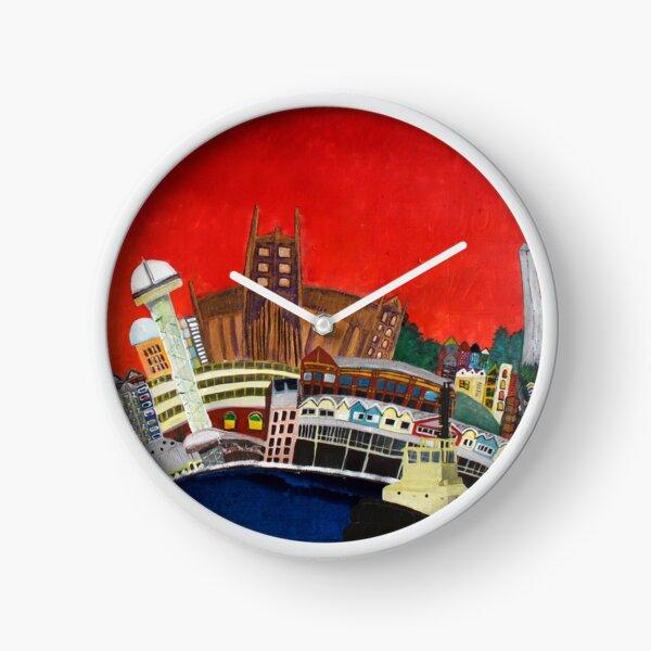 Newcastle - vivid Clock