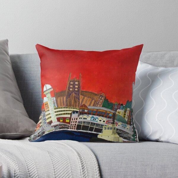 Newcastle - vivid Throw Pillow