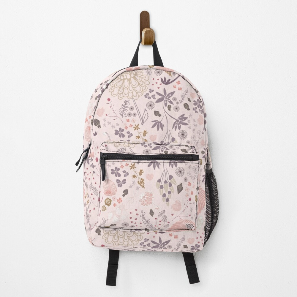Field of Flowers in Pink and Purple Backpack