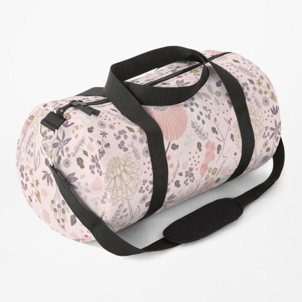 Field of Flowers in Pink and Purple Duffle Bag