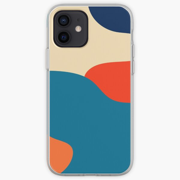 Retro 70s and 80s Colorful Fluid Abstraction 1 iPhone Soft Case