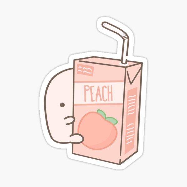 Little Blobs: Peachy Peach Juice  Sticker