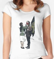 Banksy Games Women's Fitted Scoop T-Shirt