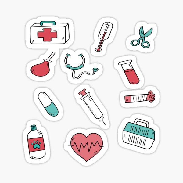 pattern medical,gift for doctor,gift for nurse,gift for healthcare,veterinaire,dog,Pharmacy,medical,doctors day,hospital Sticker