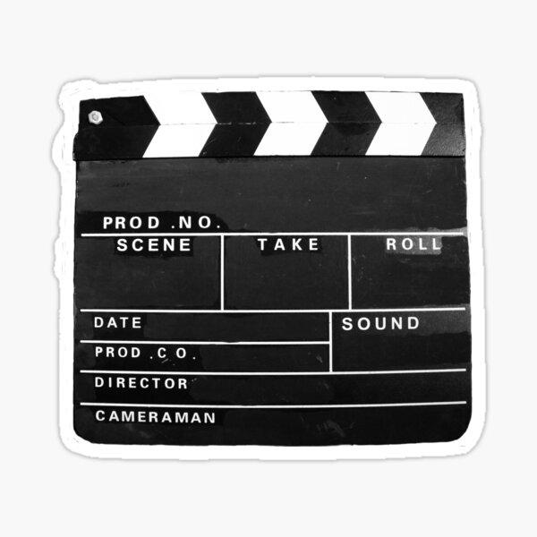 clapper board Film Movie cinema video producer vintage  Sticker