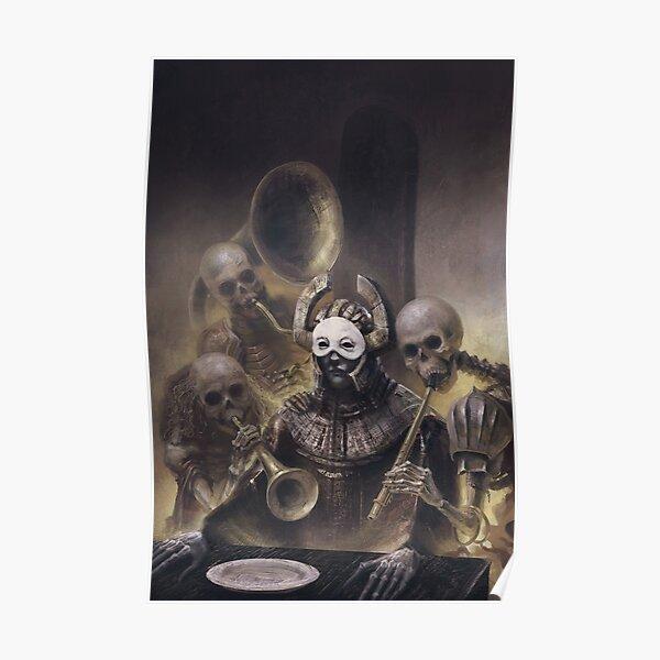 Final Supper - Surreal painting, macabre weird art, Poster