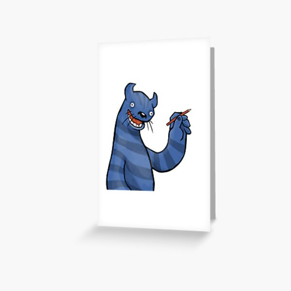 Even Monsters Like To Draw Greeting Card
