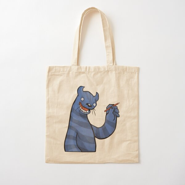 Even Monsters Like To Draw Cotton Tote Bag
