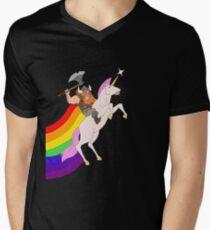 Hairy and Sparkles Men's V-Neck T-Shirt