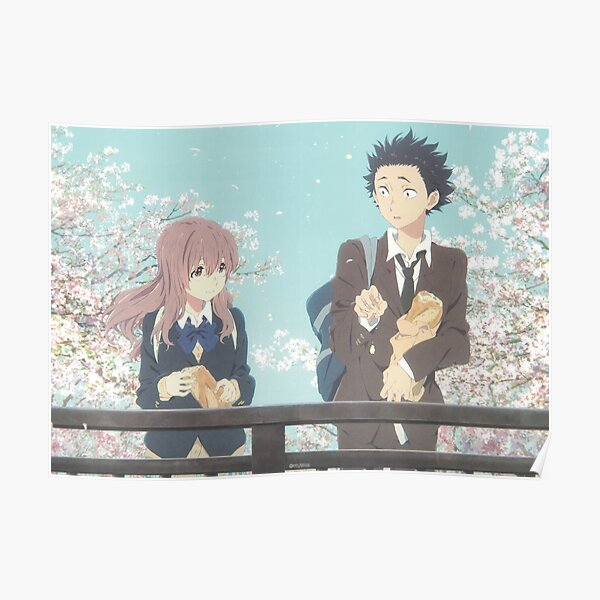 A Silent Voice | Shoya | Shouko | Anime movie Poster