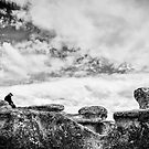 New Zealand - The Man by the Rocks by lesslinear