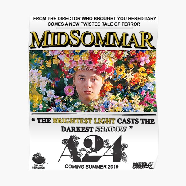 MIDSOMMAR A24 Póster