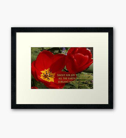 tulip shout! Framed Print