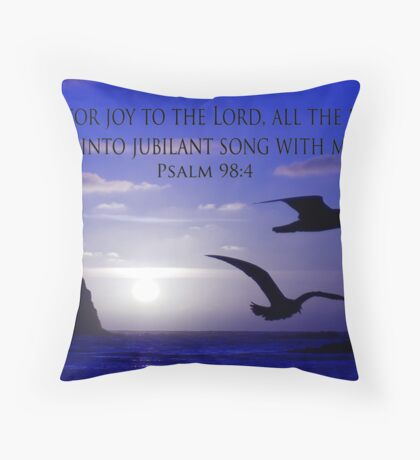 shout for joy! Throw Pillow