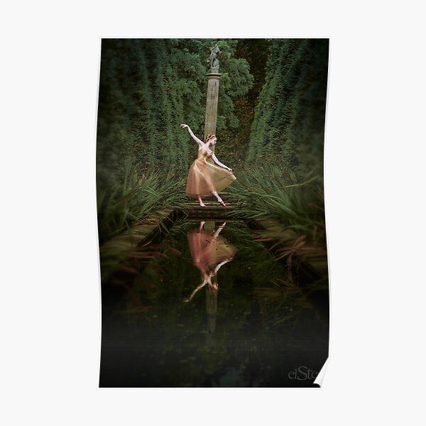Gold ballerina Poster