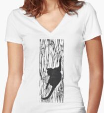 Get Off Those Curtains #5 Women's Fitted V-Neck T-Shirt
