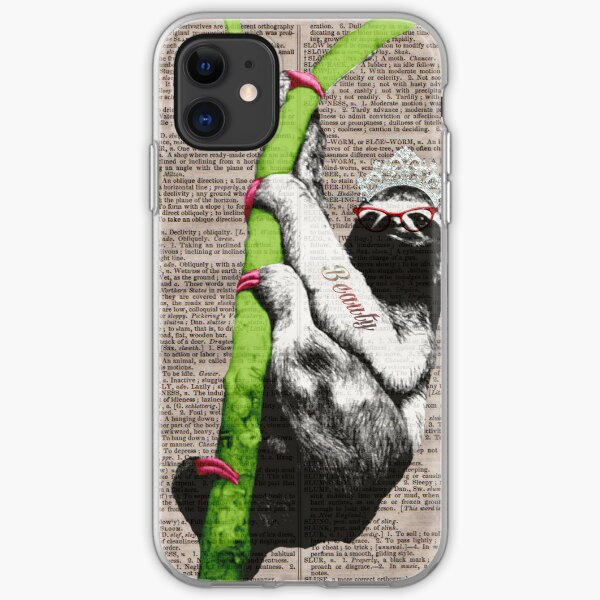 Slothful Sloth Beauty Queen iPhone Soft Case