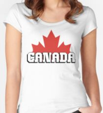 Canada Women's Fitted Scoop T-Shirt