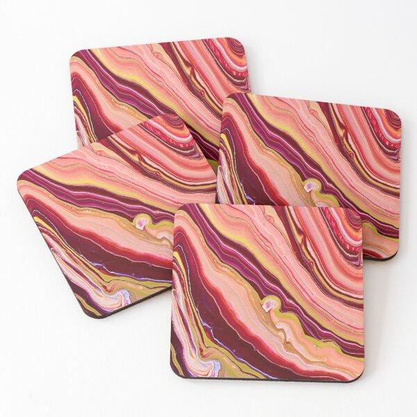 Pour Painting Design Coasters (Set of 4)