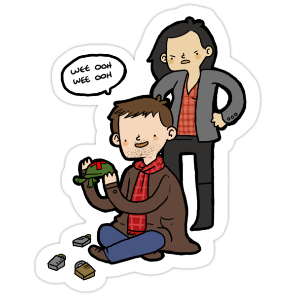 Sherlock, Joan, and Clyde by geothebio