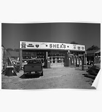 Route 66 - Shea's Filling Station Poster