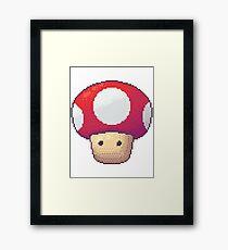 Red Mushroom Framed Print