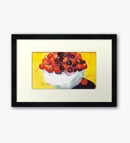 Rainier and Bings Framed Print