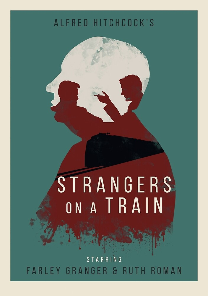Alfred Hitchcock Strangers on a Train by MonoMagic