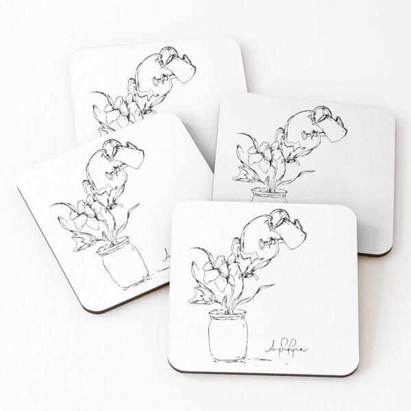 Self-Love Flower Coasters (Set of 4)