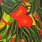 Abstract Oranges by Guy Wann