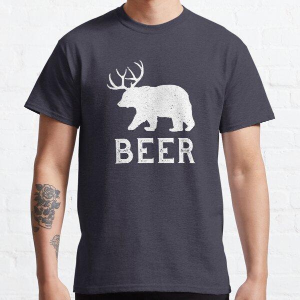Beer Deer Bear Beer Lovers Funny Vintage Classic T-Shirt