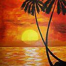 Twin Palm Sunset by Guy Wann