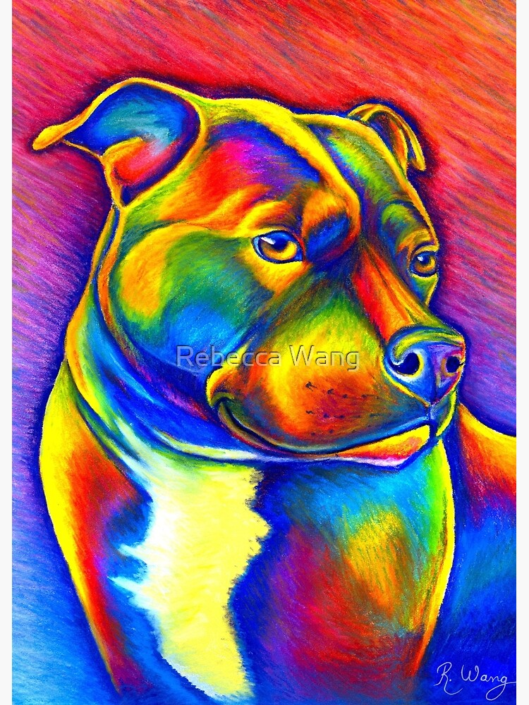 Psychedelic Rainbow Staffie by lioncrusher