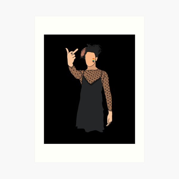 Yungblud in a dress Art Print