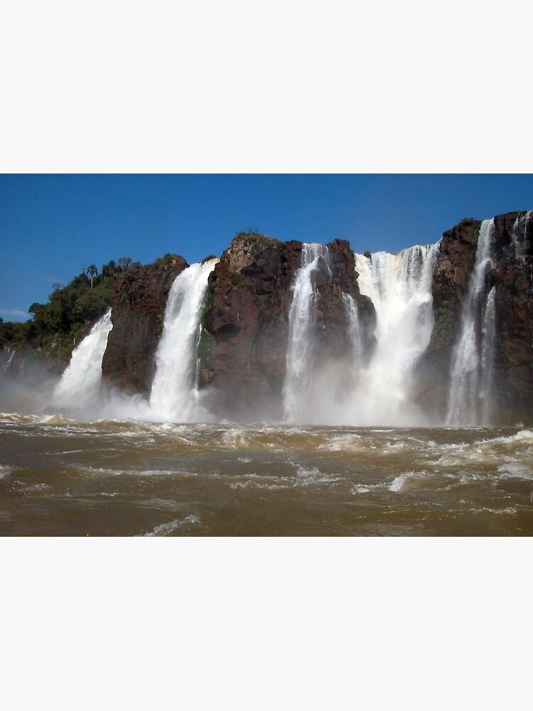 Iguazu Iguassu Waterfall Landscape Panorama Scenery, Brazil Argentina 3 by worldways
