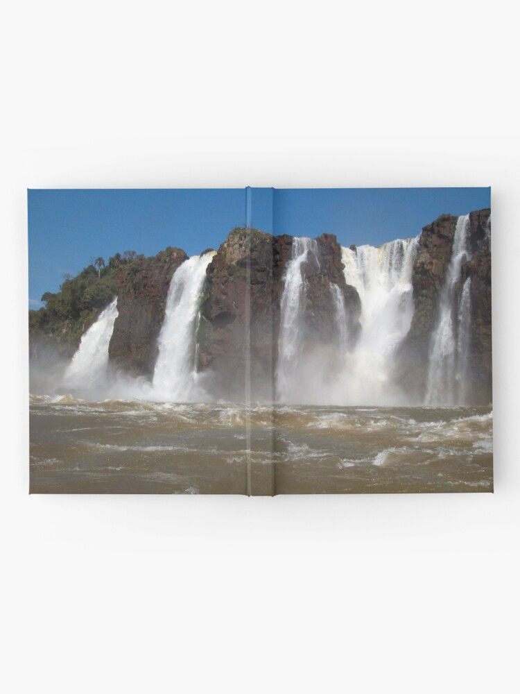 Alternate view of Iguazu Iguassu Waterfall Landscape Panorama Scenery, Brazil Argentina 3 Hardcover Journal