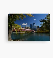 "'The Peace Bridge"" Calgary Canvas Print"