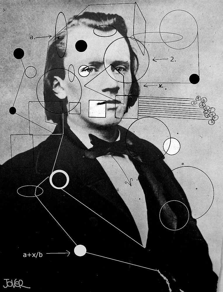 brahms with geometric shapes by Loui  Jover