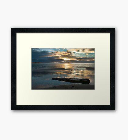 Washed Up - Etty Bay sunrise Framed Print