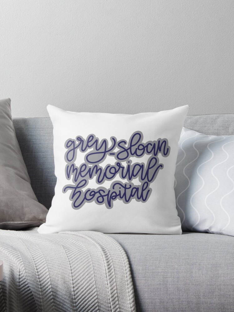 Grey Sloan Memorial Hospital Throw Pillow By Gabbieprimiano Redbubble