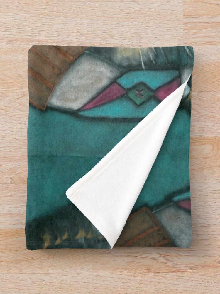 Alternate view of The Spiritual Warrior Throw Blanket