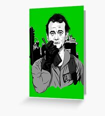 Ghostbusters Peter Venkman illustration Greeting Card