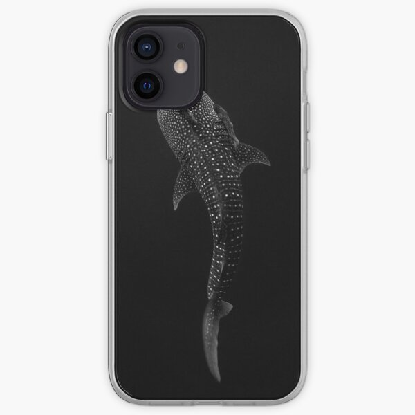 Whale Shark Portrait - Black and White iPhone Soft Case
