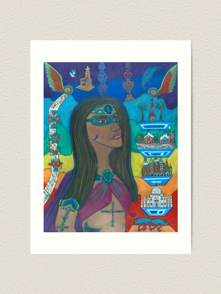Alternate view of Unmasking Your Soul Art Print