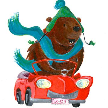 Bear in car by mimmam