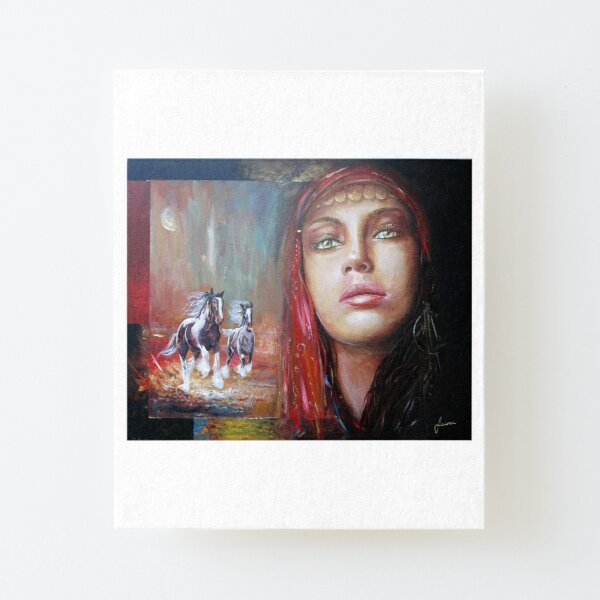 Gypsy Beauty Canvas Mounted Print