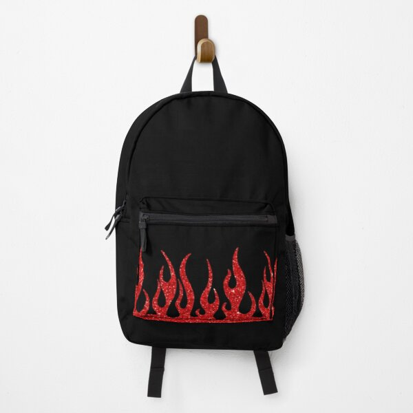 red glitter flames Backpack
