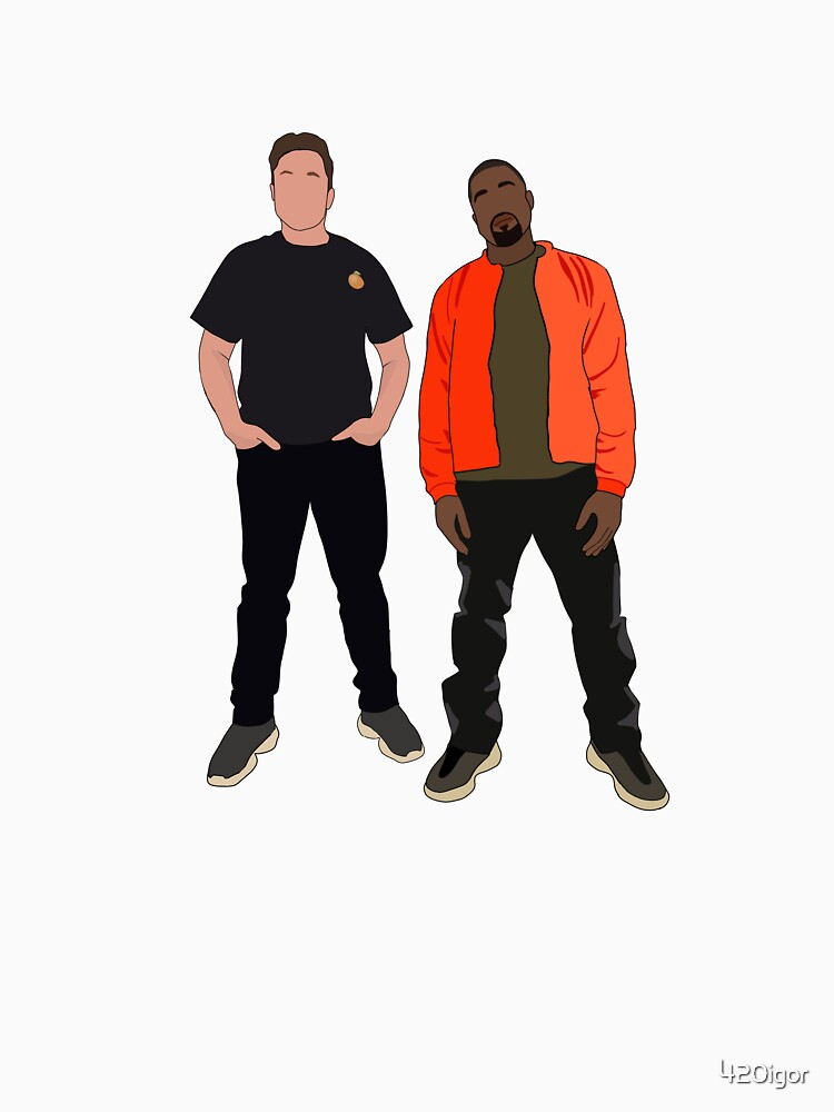 Kanye West and Elon Musk / Elon Musk with Kanye West by 420igor