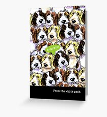 PBGV Funny Congratulations from Group Greeting Greeting Card