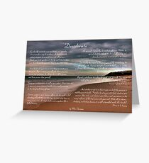 Desiderata Inspirational Poem on Seashore Greeting Card